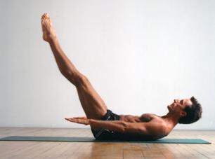Homme en centaine pilates - Les hommes en cours de Pilates