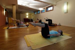 La centaine, méthode Pilates, en cours collectif avec Respiration Pilates