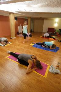 Compression hanche yin yoga